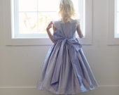 The 'Thistle' pure silk flower girl dress