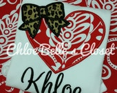 Damask Heart with Bow