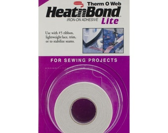 Heat'n Bond Lite Iron-on Adhesive, 7/8 inch x 15 yd roll, craft supply, sewing adhesive