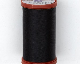 Sewing Thread, Upholstery Thread, 0900 Black Coats and Clark Upholstery Button Thread, Extra Strong Nylon, 150 yds