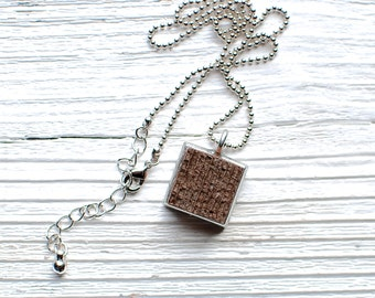 Reclaimed Wood Charm Necklace | Upcycled Recycled Repurposed Jewelry