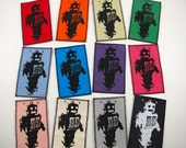 One robot canvas patch in any color you choose....FREE SHIPPING USA