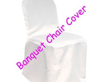 White Banquet Wedding Chair Covers