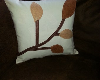 CLOSEOUT  SALE...Neutral Leaf Design Pillow COVERS