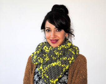 Chunky Multi-Colored Infinity Scarf