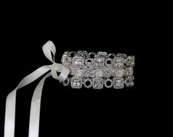CZ  bridal cuff - Sophisticat