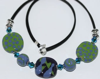 Kazuri Bead Necklace Fair Trade Handmade Ceramic Jewelry from Africa Floral