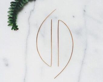 Curve + Line Earrings