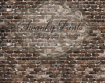 10ft x 10ft Grunge Old Brick / Vinyl Photography Backdrop