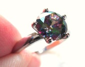 Sterling Silver Mystic Topaz Ring, size 6