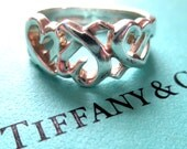 Genuine TIFFANY and Co. Sterling Silver Ring, Size 6