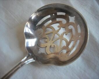 Reed & Barton Sterling Pierced Bonbon Spoon