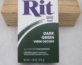 Dark Green Rit Dye Powder