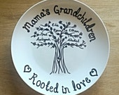 RESERVED Decorative Plate ~ Mama's Grandchildren (Reserved for Joelle Baldachino)