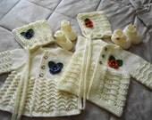 Cremefarbenes Baby Set in zwei Variationen