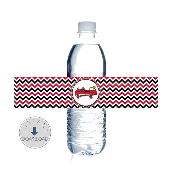 Items similar to instant download fire truck water bottle for How to cut a bottle with fire