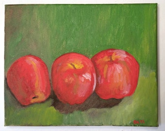 Painting-Oil Painting-Apples Art-Fruit Painting-Fine Art by Diann