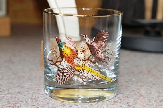 Princess House Pheasant Cocktail Glasses (Set of 8) - Vintage 1970's