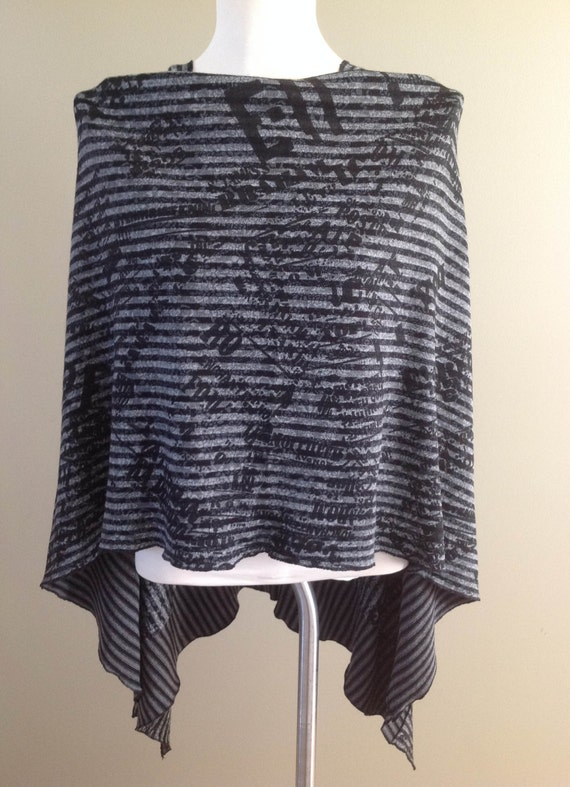 Reversible Sweater Knit Poncho