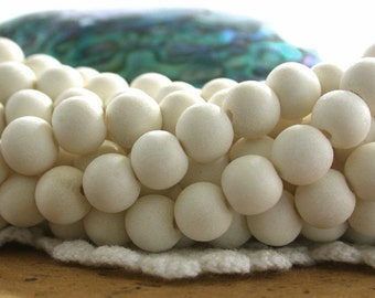 8/9mm Whitewood Beads, White Wood Beads, Natural Wood Beads, Natural Beads, Recycled Wood Beads NAT-234