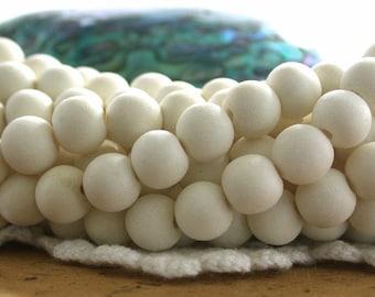 8/9mm Whitewood Beads, White Wood Beads, Natural Wood Beads, Natural Beads, Recycled Wood Beads NAT-234
