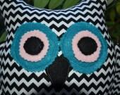 Handmade Owl Pillow Decorative Shelf Sitter Cuddly Toy