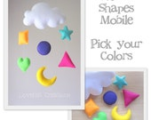 Baby mobiles and nursery decor by lovefeltxoxo on etsy for Baby shapes mobile