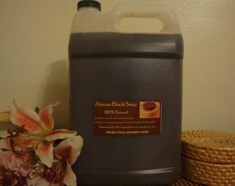 Wholesale 1 Gallon Jug Raw African Black Liquid Soap 128 oz