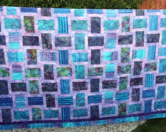 Batik Patchwork Quilt, Made To Order By PingWynny