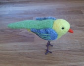 Needle felted bird OOAK felted animal gift under 50