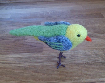 Needle felted bird OOAK felted animal gift under 50