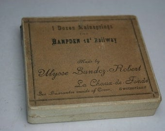 Vintage Watch Repair Parts Box - Hampden