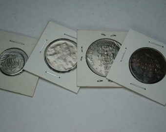 Lot of Vintage Coins From Portugal - 4 pc lot