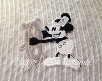 Steamboat Willie Inspired Iron on Appliqué