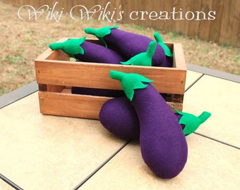 Felt Play Food Plush Eggplant