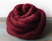 Roving for felting or spinning in a rich oxblood red - pure merino wool top - No 14