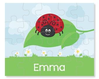 Ladybug Puzzle - Personalized Puzzle for Kids - Jigsaw Puzzle - Children Puzzles - Personalized Name Puzzle - 8 x 10 puzzle, 20 pieces