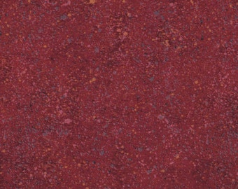 Essentials by Wilmington Prints, Red Spatter, Dark Brick Red, Red Fabric, 02287