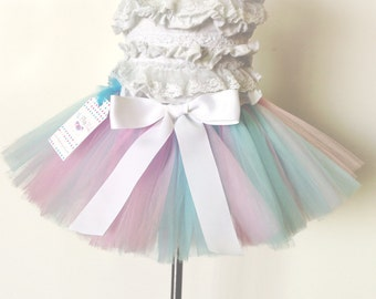 "Cotton candy tutu ""Missy"" pink and blue tutu pastel tutu cotton candy costume girls tutu skirt photo prop birthday size 5 6 7 8 10 12 spring"