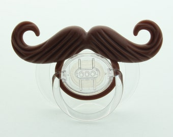 Mustache Pacifier Ladies Man Mustache Pacifier Brown Mustache (msrp 18.00)
