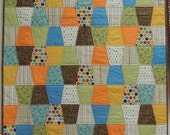 MADE TO ORDER, Crib Quilt, Custom Baby Bedding, Nursery Quilt, Trapezoid Quilt, Modern Baby Quilt, Geometric Baby Blanket, Handmade Quilt