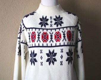 Handsome 60's  Vintage Après Ski Sweater size M