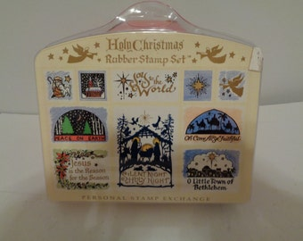 Holy Christmas Rubber Stamp kit