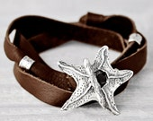 Starfish Bracelet- Inspirational Jewelry- Toggle Wrap Bracelet- B471