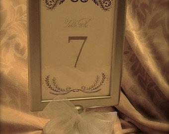 10 SILVER Double sided pedestal frames , pedestal frames, 4x6 pedestal frames, wedding frames, wedding decor, table numbers frames