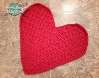 Baby Heart Shaped Blanket Photo Prop Mat Rug - Newborn Boy Girl Costume Christmas Winter Valentine's Day Halloween