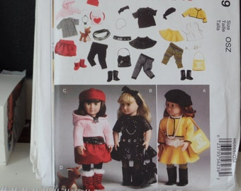 McCalls 6669 18 Inch Doll Clothes