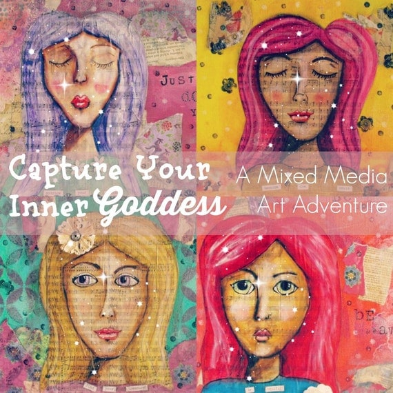 Capture Your Inner Goddess, Painting course, Fine Art Course, Creativity Course, Online painting courses, Art lessons, Art and Design Course