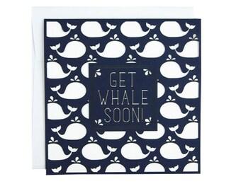 Get Whale Soon Laser Cut Card
