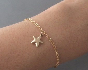 Gold Fill Star Charm Bracelet also in Silver
